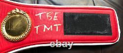 Floyd Mayweather Jr Autographe Signé Tbe Tmt Ibf Ceinture De Boxe Beckett Témoin