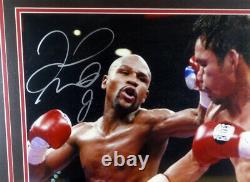 Floyd Mayweather Jr. Autographed 16x20 Photo Encadrée Signé Beckett 125706