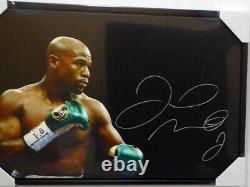 Floyd Mayweather Jr. Autographed 20x30 Toile Encadrée Signé Photo Beckett 129107