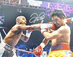 Floyd Mayweather Jr. Autographié 16x20 Photo Vs. Manny Pacquiao Jsa 178318