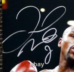 Floyd Mayweather Jr. Autographié 16x20 Photo Vs Pacquiao Beckett Coa I61256