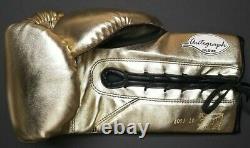 Floyd Mayweather Jr. Autographié Cleto Reyes Gold Gant De Boxe. Beckett Témoin
