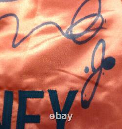 Floyd Mayweather Jr. Autographié Red Boxing Trunks Beckett I44586