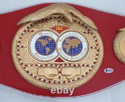 Floyd Mayweather Jr. Autographié Rouge Ibf Full Size Belt Tmt Beckett 159676