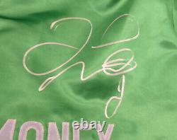 Floyd Mayweather Jr. Autographié Signé Green Boxing Trunks Beckett I83837