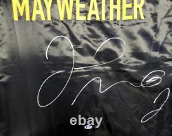Floyd Mayweather Jr. Autographié Signé Noir Boxe Robe Beckett 121804