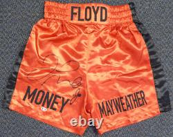 Floyd Mayweather Jr. Autographié Signé Red Boxing Trunks Beckett Coa I44586
