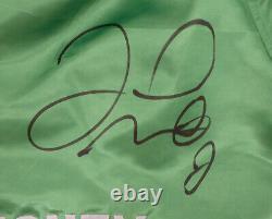 Floyd Mayweather Jr. Autographié Signé Trunks De Boxe Vert Beckett Bas 159665