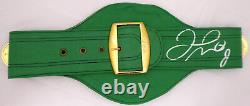 Floyd Mayweather Jr. Autographié Signé Vert Taille Ceinture Pleine Wbc Beckett 157354
