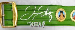 Floyd Mayweather Jr. Autographié Vert Taille Ceinture Pleine Wbc Argent Beckett 159672