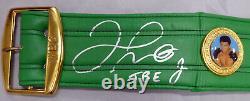 Floyd Mayweather Jr. Autographié Vert Wbc Full Size Belt Tbe Beckett 159673