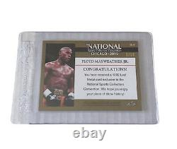 Floyd Mayweather Jr. Purple Refractor Card #1/102019 Collectionneurs Nationaux Leaf