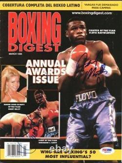 Floyd Mayweather Jr & Robinson Autographié Signé Magazine Cover Q89203