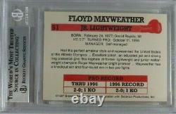 Floyd Mayweather Jr Rookie Rc 1997 Browns Boxe #51 Bgs 9 Monnaie