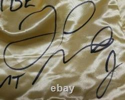 Floyd Mayweather Jr. Signé Autographed Gold Trunks Tbe, Tmt. Beckett Témoin