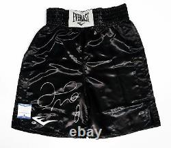 Floyd Mayweather Jr Signé Black Everlast Boxing Trunks Bas I44522 Tmt