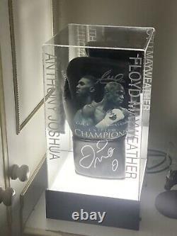 Floyd Mayweather Jr Signé Gant De Boxe Coa Et Anthony Joshua Signé Véritable
