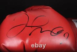 Floyd Mayweather Jr. Signé Red Everlast Boxing Glove Custom Shadow Box Jsa Coa