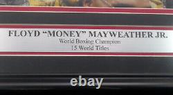 Floyd Mayweather Jr. Signé Signé Encadré 16x20 Photo Beckett Bas 162399