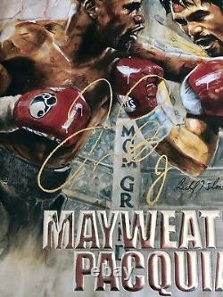 Floyd Mayweather Jr Signé Vs Pacquiao Official Fight Program Autograph Jsa Coa