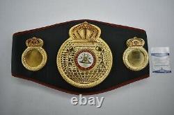 Floyd Mayweather Jr. Signé Wba Championship Boxing Belt Boxing Beckett Coa
