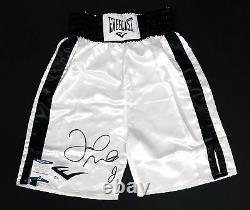Floyd Mayweather Jr Signé White Everlast Boxing Trunks Bas I44521 Tmt