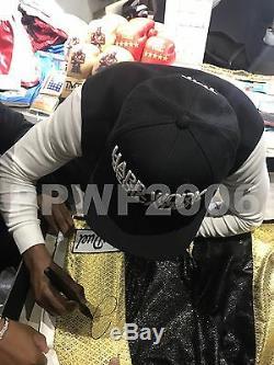 Floyd Mayweather Jr Signée À La Main Autographié Boxe Trunks Avec Preuve Et Coa 4