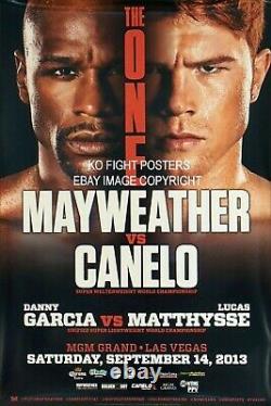 Floyd Mayweather Jr Vs. Canelo Alvarez Affiche Originale De Combat De Boxe Sur Place Mgm