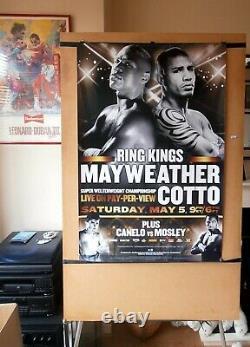 Floyd Mayweather Jr Vs. Miguel Cotto Affiche De Combat De Boxe Originale Hbo Ppv 30