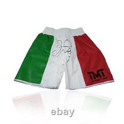 Floyd Mayweather Main Signé Replica Boxing Shorts Champion Du Monde Rare Coa
