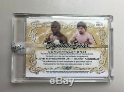 Floyd Mayweather Manny Pacquiao 2020 Feuille Signature Série Sport Auto Double # 1/1
