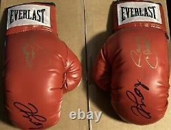 Floyd Mayweather / Manny Pacquiao A Signé Ensemble De Gants Everlast