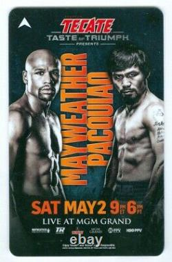 Floyd Mayweather Manny Pacquiao Full Ticket Programme 25 Chip Autographied Pass