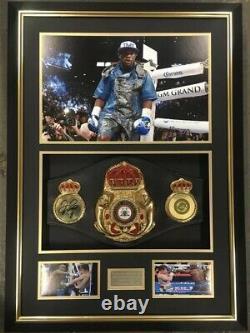 Floyd Mayweather Manny Pacquiao Signé Encadré Full Size Ceinture De Boxe Signé