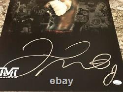 Floyd Mayweather Signé 16x20 Boxe Photo Jsa Coa L'équipe D'argent #1