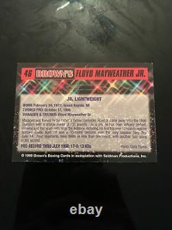 Floyd Mayweather Signé Browns 12e Set Bonus Boxing Card 1999 (loa)