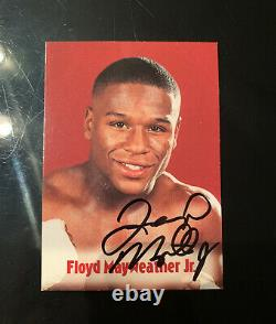Floyd Mayweather Signé Browns 13e Set Bonus Boxing Card 2001 (loa)