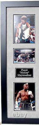 Floyd Mayweather Signé & Encadré Tmt Black Boxing Boot Exact Proof Aftal