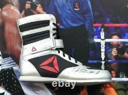 Floyd Mayweather Signé & Encadré Tmt Reebok Boxe Boot Exact Proof Aftal Coa
