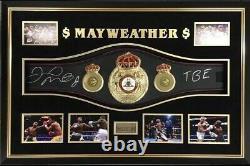 Floyd Mayweather Signé Full Size Ceinture De Boxe Autographe Signé Tmt