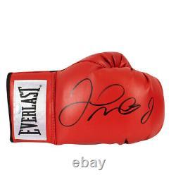 Floyd Mayweather Signé Gants De Boxe Everlast, Boîtier D'affichage En Acrylique Rouge
