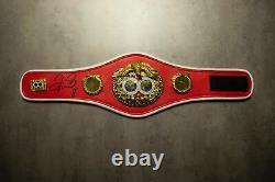 Floyd Mayweather Signé Ibf Mini Belt Proof Genuine Signature Aftal Coa