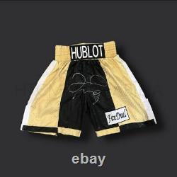 Floyd Mayweather Signé Or Shorts De Boxe