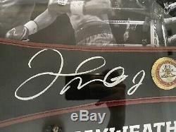 Floyd Mayweather Signé Réplique Régulière Wba De Boxe Ceinture Avec Coa