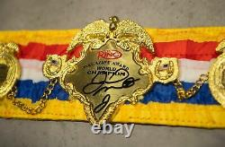 Floyd Mayweather Signé Ring Magazine Mini Belt Proof Aftal Coa