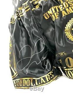 Floyd Mayweather Signé Short De Boxe Shorts V Conor Mcgregor Coa Preuve Photo