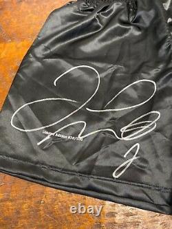 Floyd Mayweather Signé Short De Boxe Trunks Beckett Bas Coa Autographié Tmt