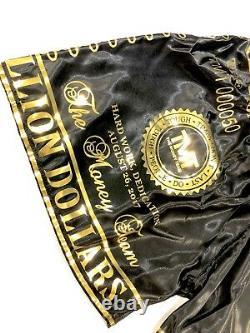 Floyd Mayweather Signé Trunks De Boxe V Conor Mcgregor Avec La Preuve Aftal Coa