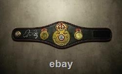 Floyd Mayweather Signé Wba Mini Belt Proof Genuine Signature Aftal Coa