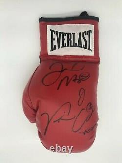 Floyd Mayweather V Victor Ortiz A Signé Everlast Très Rare Aftal C. O. Un Tmt